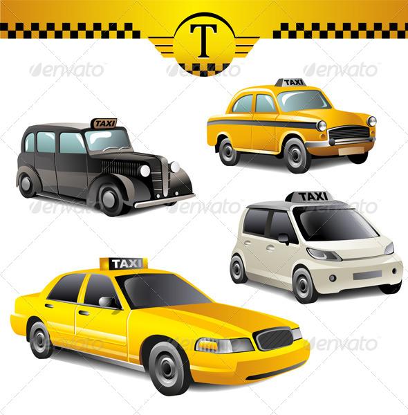 Taxi Cars - Miscellaneous Vectors