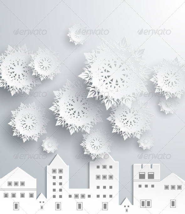 Paper Snowflakes and Town - Concepts Business