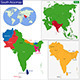 South Asia Map - GraphicRiver Item for Sale