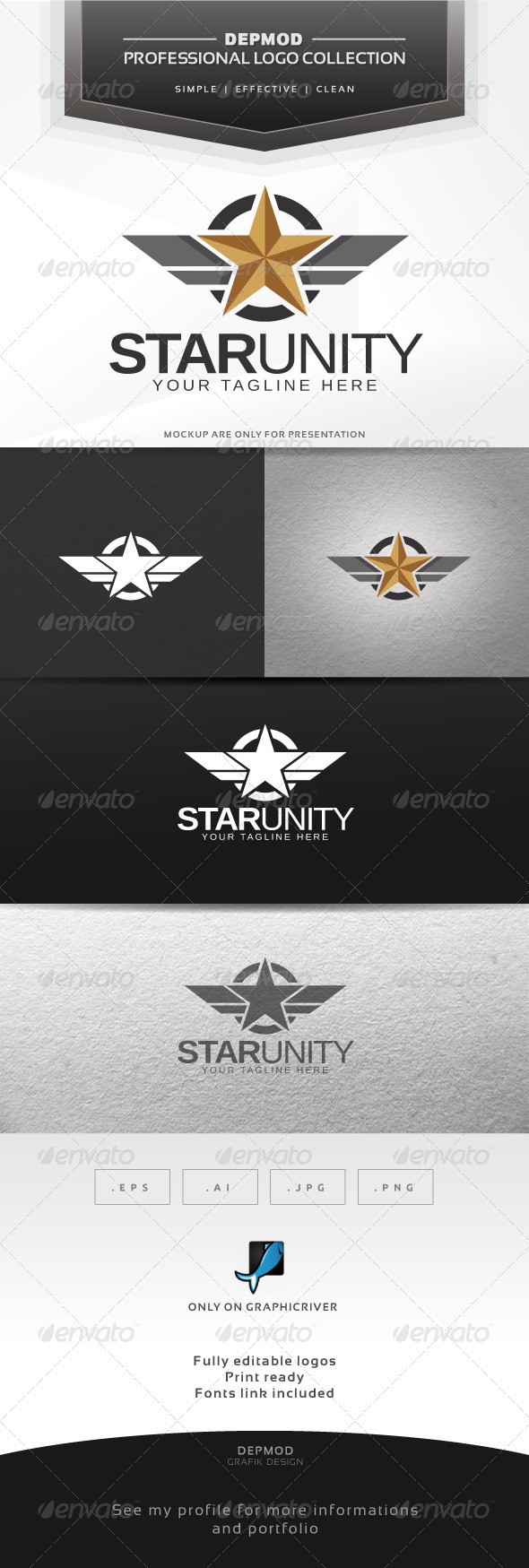 Star Unity Logo - Crests Logo Templates