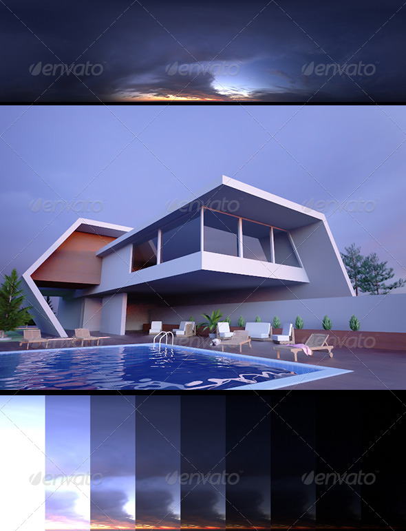 Realsky HDRI Dusk 1730 - 3DOcean Item for Sale