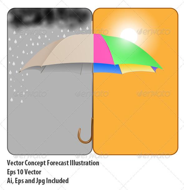 Sunny Rainy - Conceptual Vectors