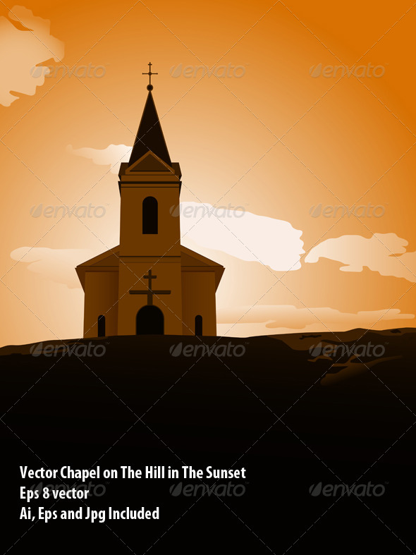 Sunset Chapel - Religion Conceptual