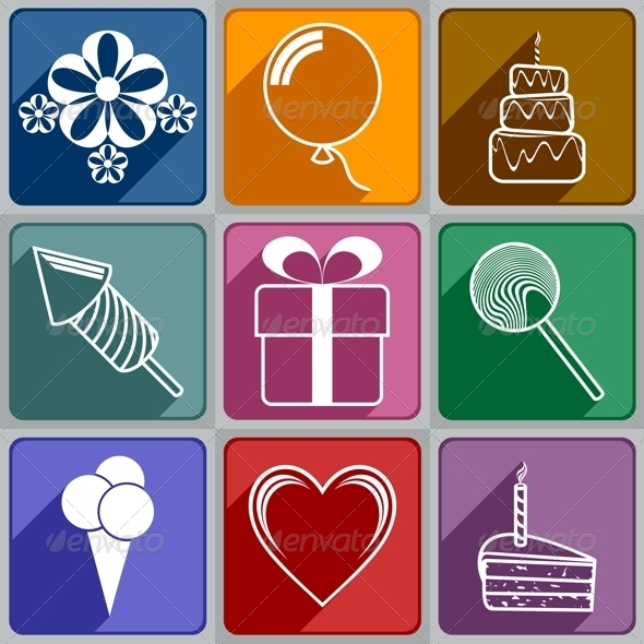 Icons to Birthday - Birthdays Seasons/Holidays