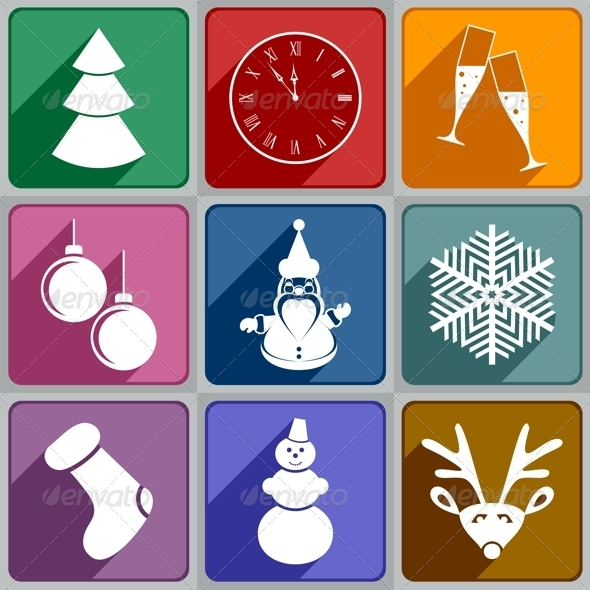 New Year Icons - New Year Seasons/Holidays