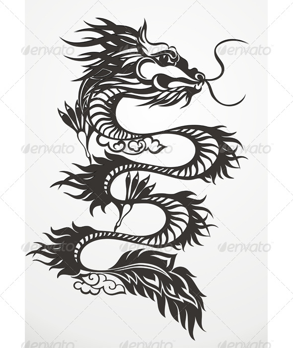 Dragon Vector Illustration. - Animals Characters
