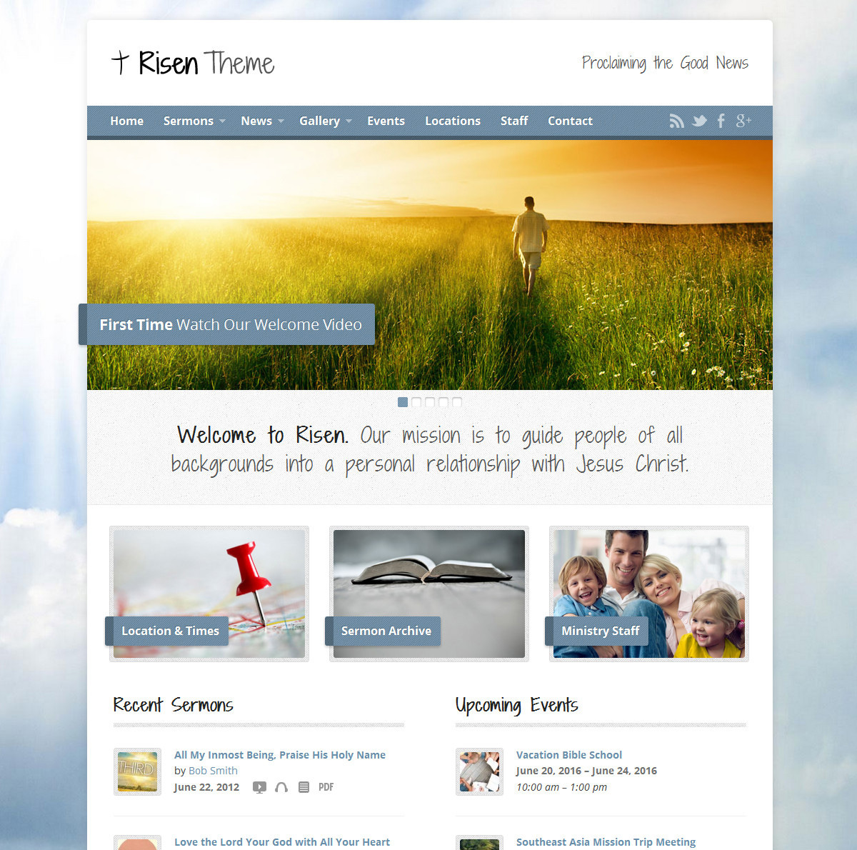 Risen - Church WordPress Theme (Responsive) by StevenGliebe ...