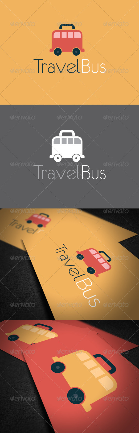 Travel Bus Logo Template - Vector Abstract