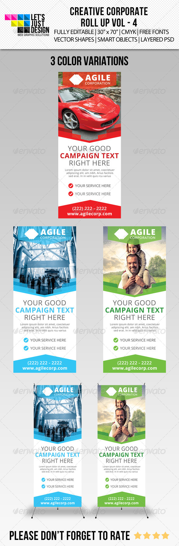 Corporate Roll-Up Banner Vol 4 - Signage Print Templates
