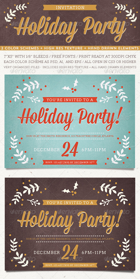Holiday Party Invitation - Invitations Cards & Invites