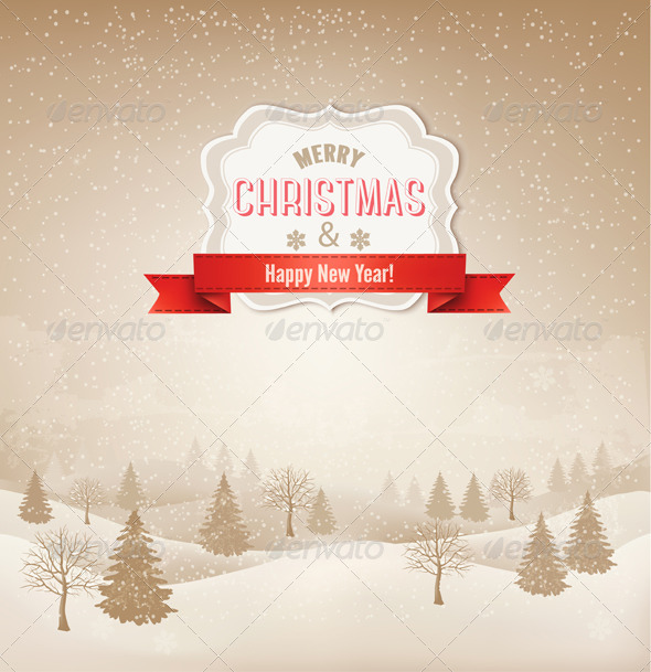 Retro Holiday Christmas Background - Christmas Seasons/Holidays