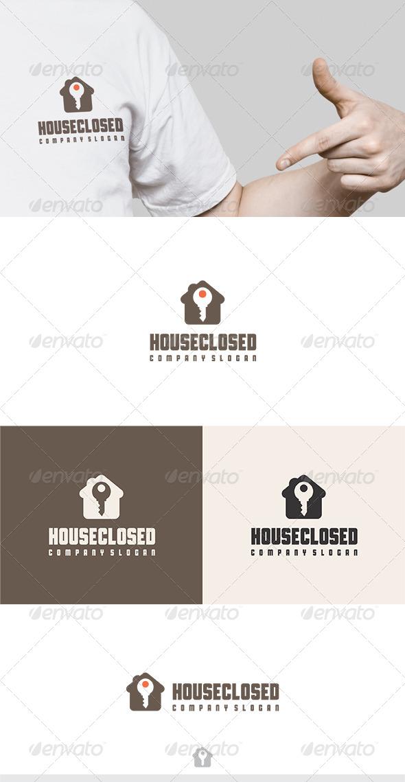 House Closed Logo - Buildings Logo Templates