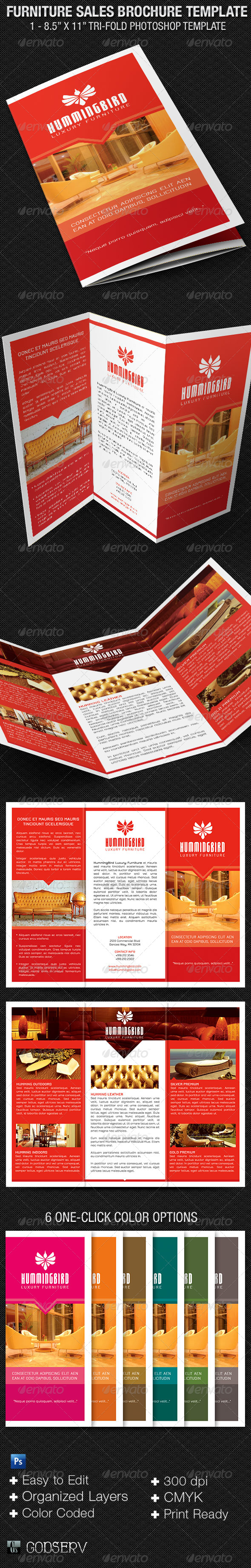 Furniture Sales Brochure Template   Corporate Brochures
