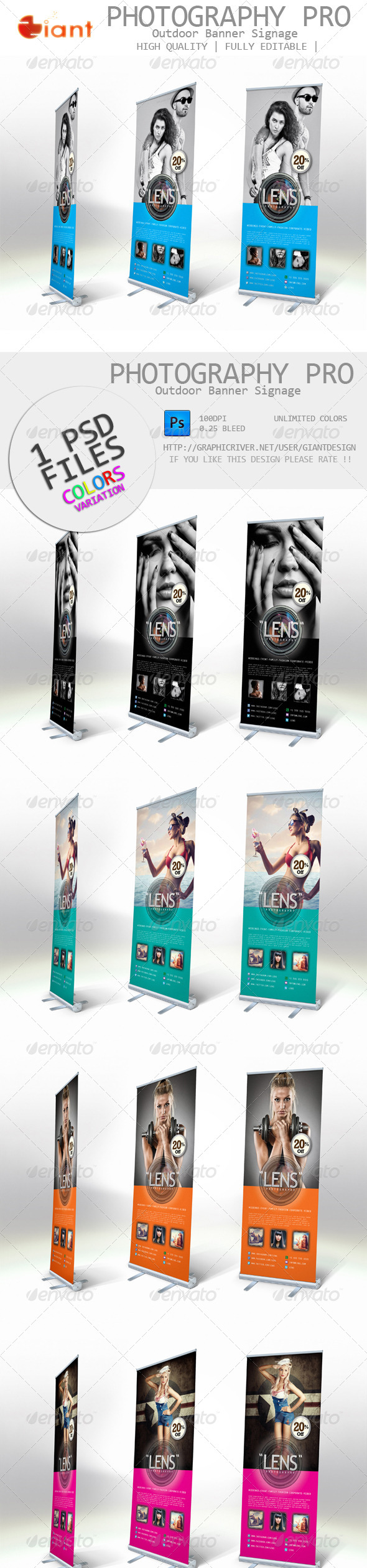 Photography Pro Outdoor Banner Signage - Signage Print Templates