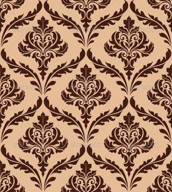 Floral Damask Seamless Pattern - Patterns Decorative