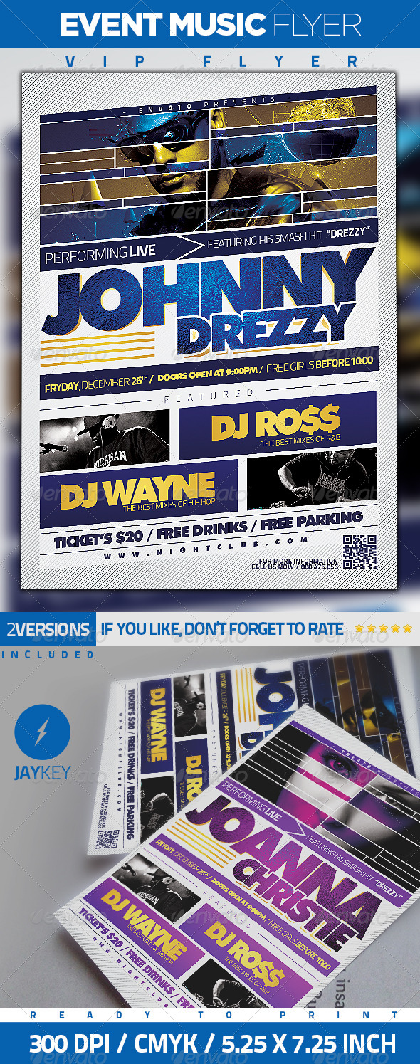 Event Music Flyer - Concerts Events