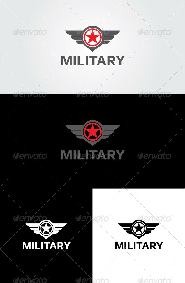 Military 2 Logo  - Crests Logo Templates