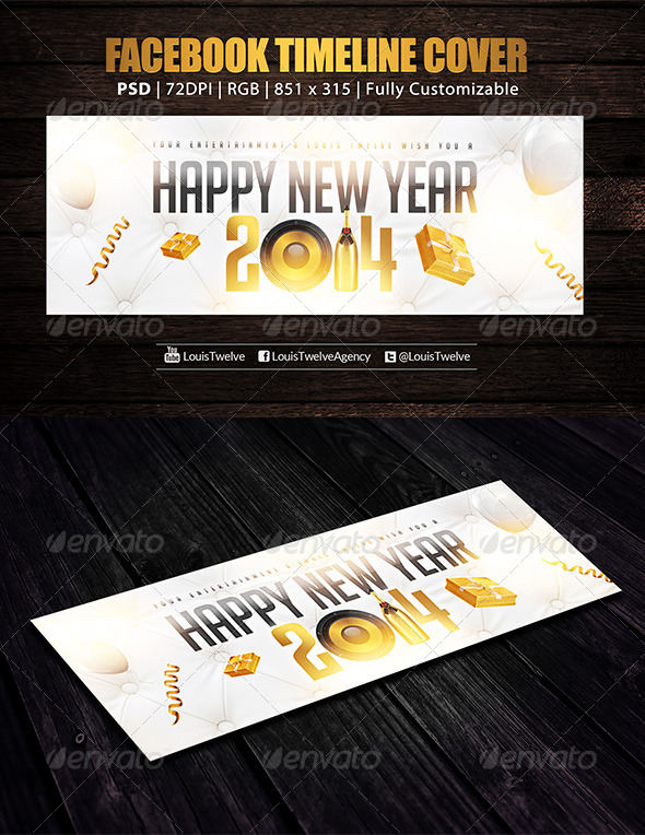 New Year | Facebook Cover