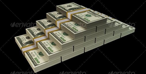 Money Stack - 3D Renders Graphics