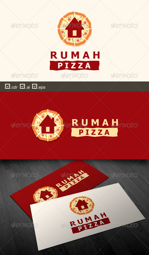 Rumah Pizza - Food Logo Templates