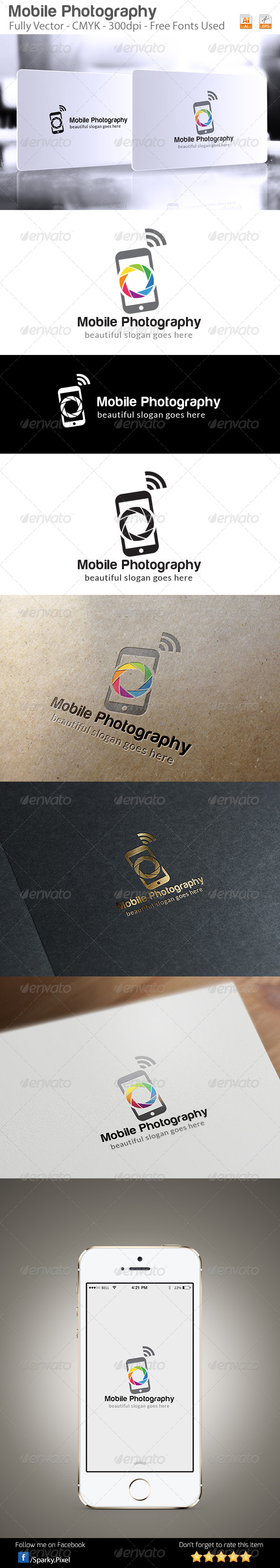 Mobile Photography Logo Template - Symbols Logo Templates
