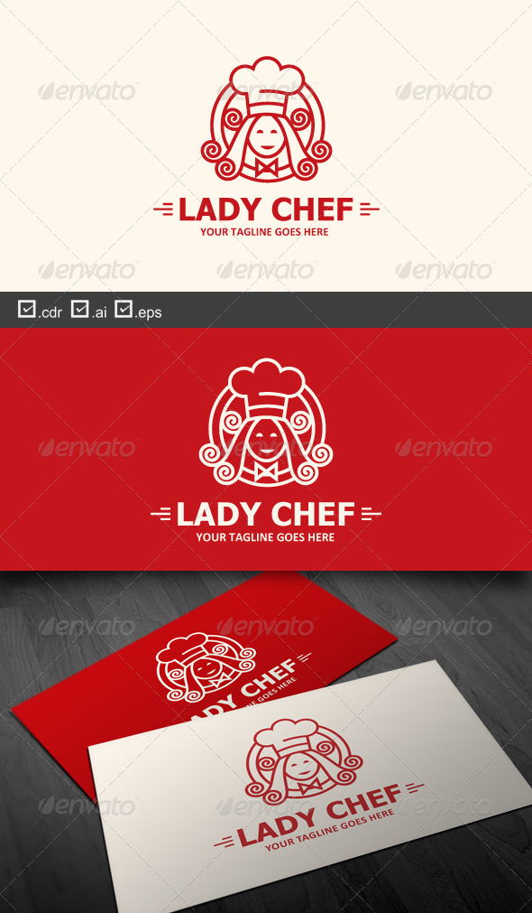 Lady Chef - Food Logo Templates