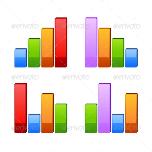 Business Graph of Growth Progress  - Web Technology