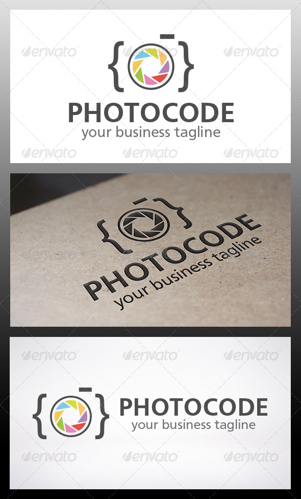 Photo Code Logo - Objects Logo Templates