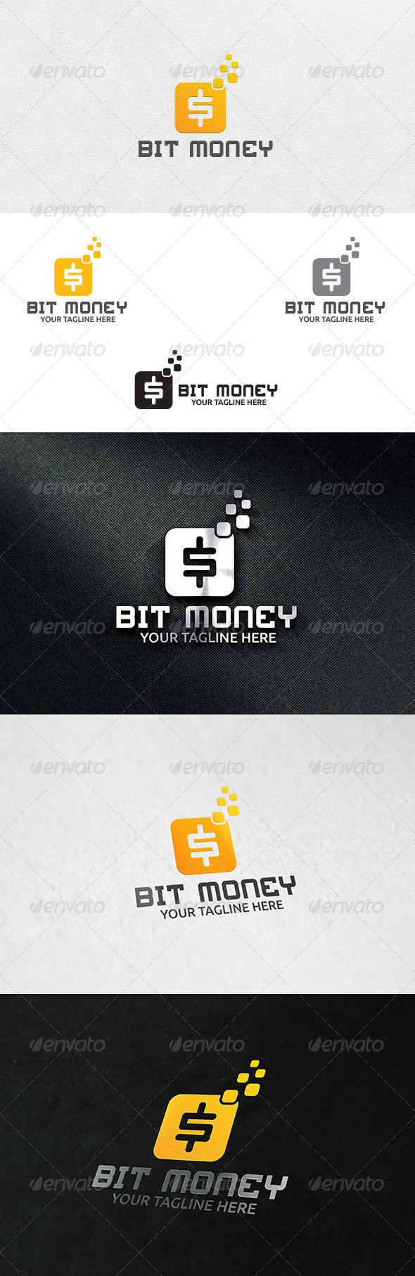 Bit Money - Logo Template - Symbols Logo Templates