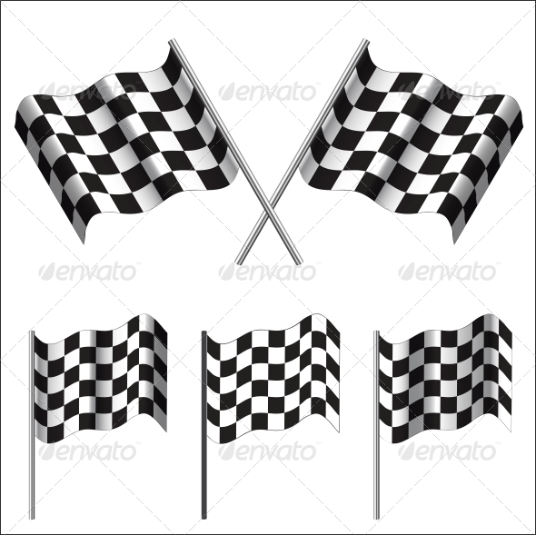 Checkered Flags (racing). Vector - Sports/Activity Conceptual