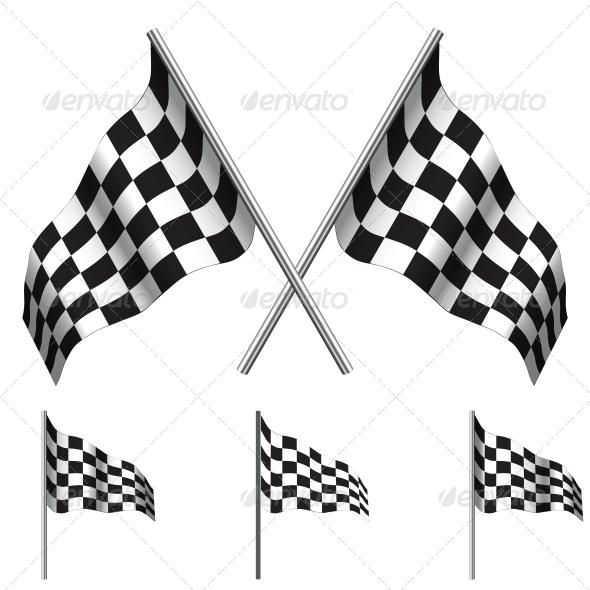 Checkered Flags (racing). Vector - Sports/Activity Conceptual