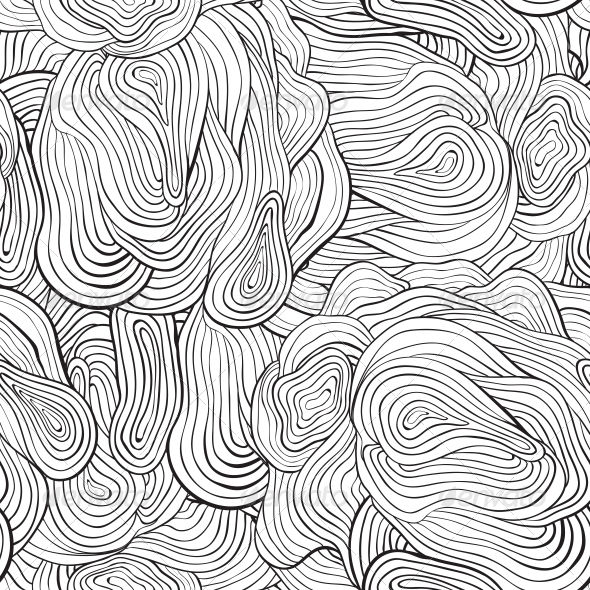 Vector Seamless Curve Pattern - Patterns Decorative