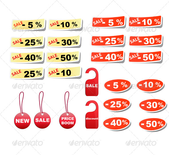 Set Sale Tags. - Retail Commercial / Shopping