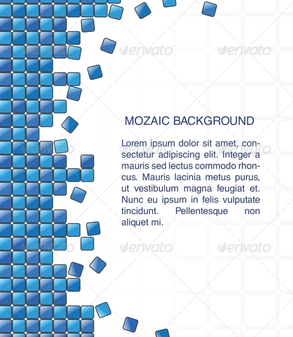 Abstract Mosaic Background  - Backgrounds Decorative