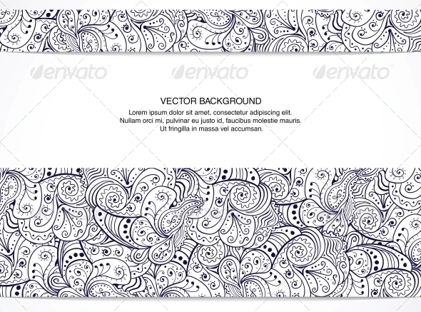 Floral Invitation Card in Black and White - Backgrounds Decorative