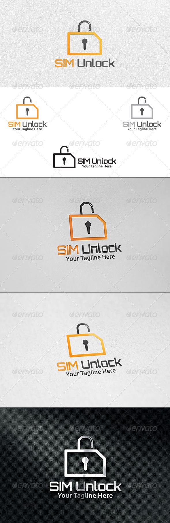 Sim Unlock - Logo Template - Symbols Logo Templates