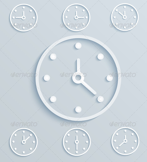 Paper Clock - Man-made Objects Objects