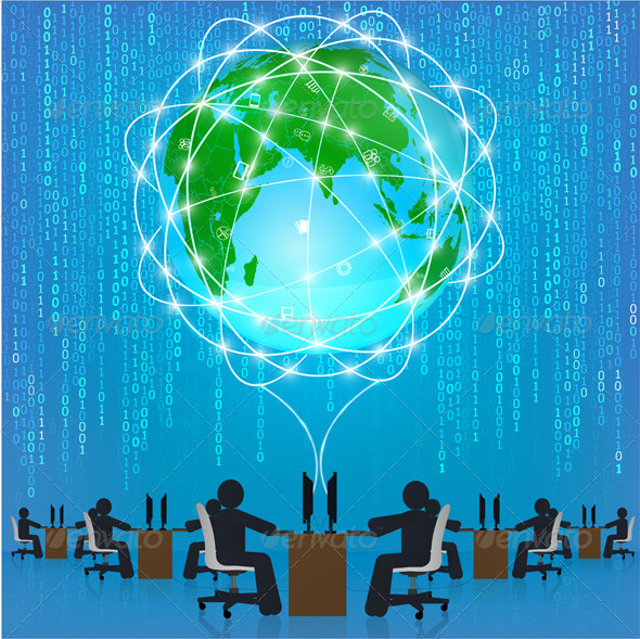 Global Network Connection - Communications Technology