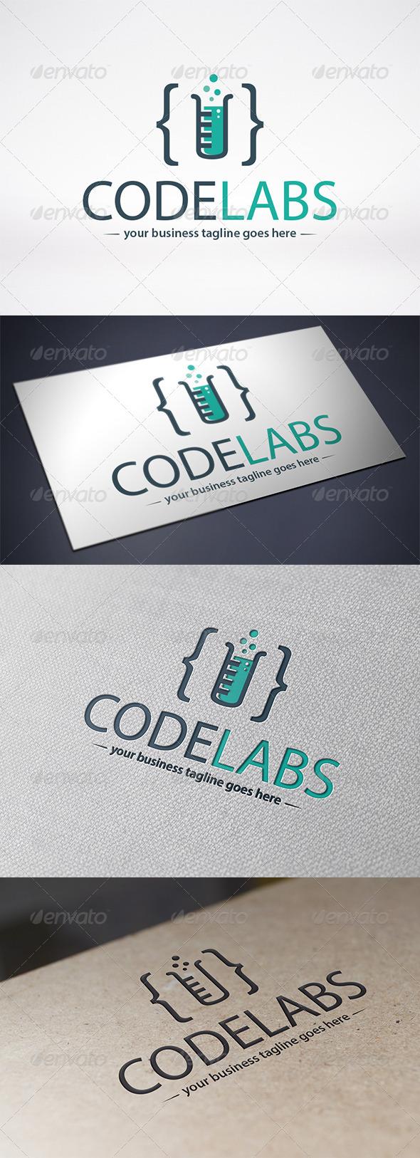Code Lab Logo Template - Symbols Logo Templates