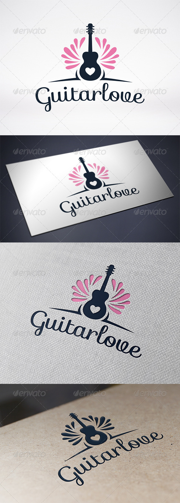 Guitar Love Logo Template - Objects Logo Templates