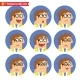 Employee Facial Emotions - GraphicRiver Item for Sale