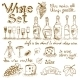 Set of Wine Elements - GraphicRiver Item for Sale