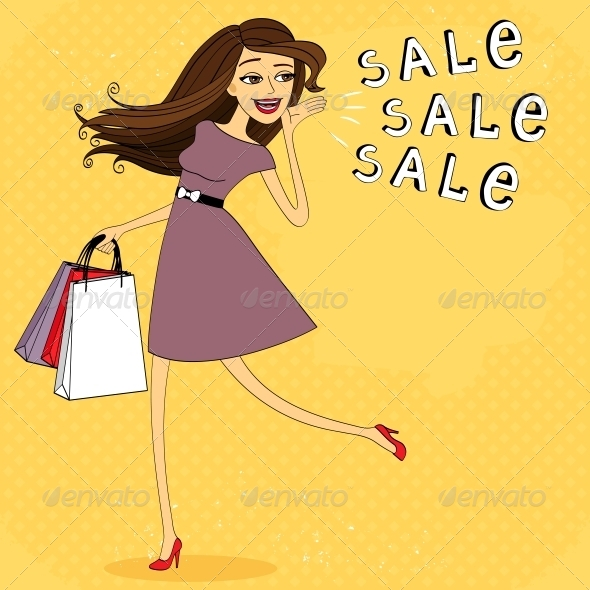 Fasion Sale Girl - Retail Commercial / Shopping