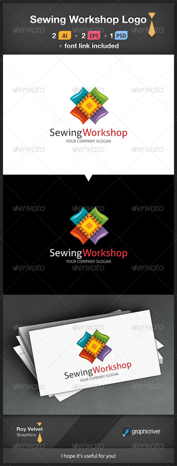 Sewing Workshop Logo - Symbols Logo Templates