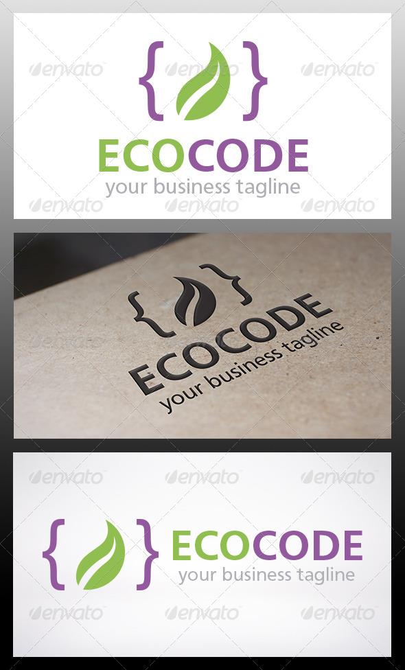 Eco Code Logo - Objects Logo Templates
