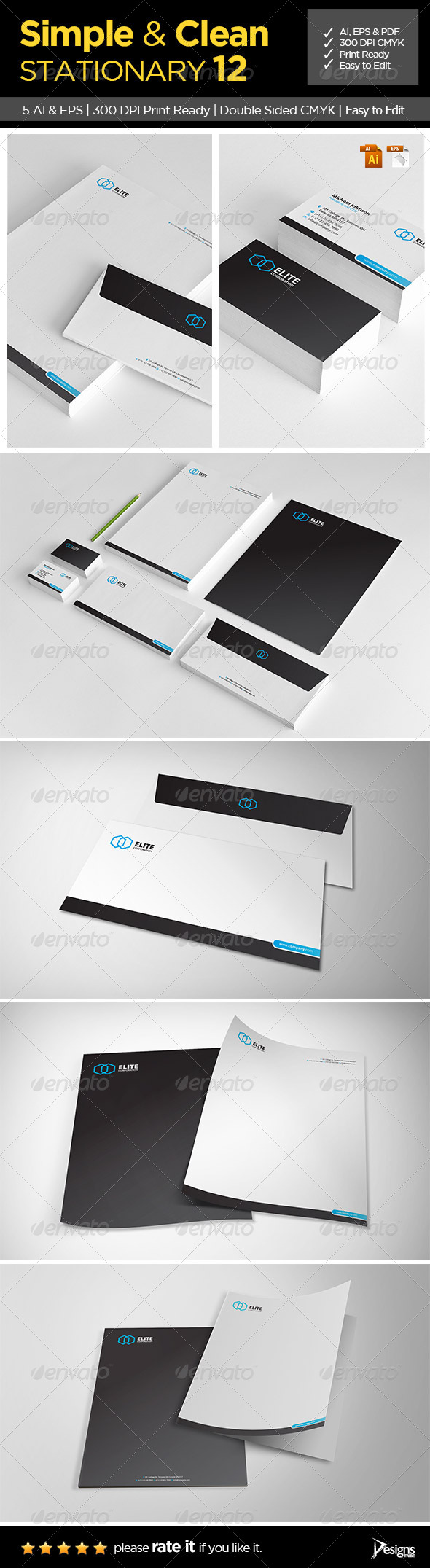 Simple and Clean Stationary 12 - Stationery Print Templates