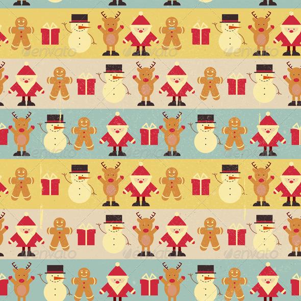 Christmas Seamless Background - Patterns Decorative