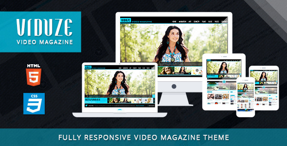 Viduze – Video Magazine HTML Template