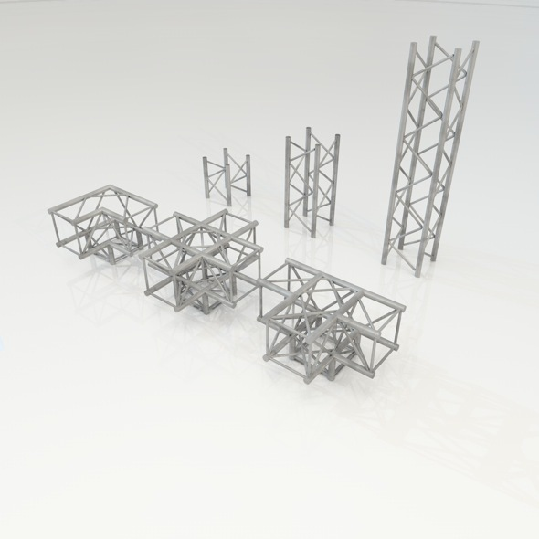 Truss Construction set - 3DOcean Item for Sale