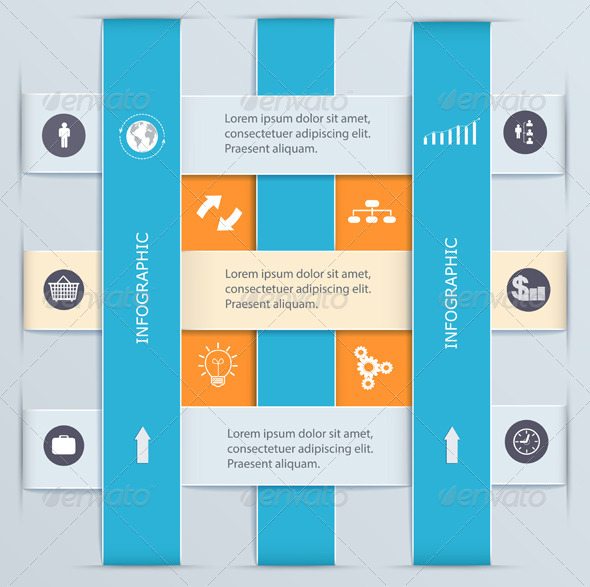 Infographic Template with Tabs. - Web Technology